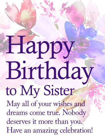 May Your Dream Come True - Happy Birthday Wishes Card for