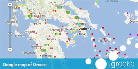 Google Map of Greece and the Greek islands   Greece maps