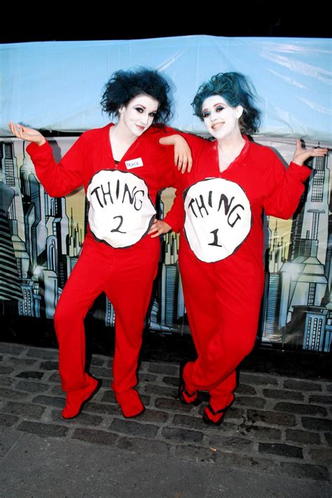 Thing 1 Thing 2 Halloween Costume   Classic, well done
