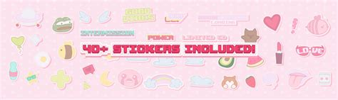 Cute Pastel Stickers Twitch Stream Package on Behance