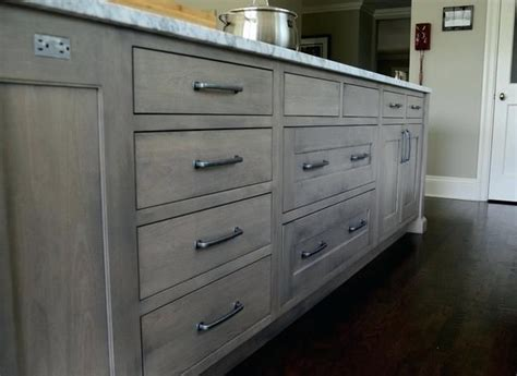 Image result for grey stain oak kitchen cabinet | Gray