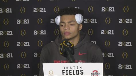 Justin Fields post-game interview   National Championship