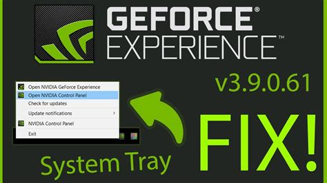 EASY FIX for Nvidia Geforce Experience System Tray Missing