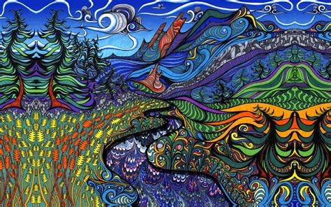 Psychedelic Landscape : PsychedelicWallpapers
