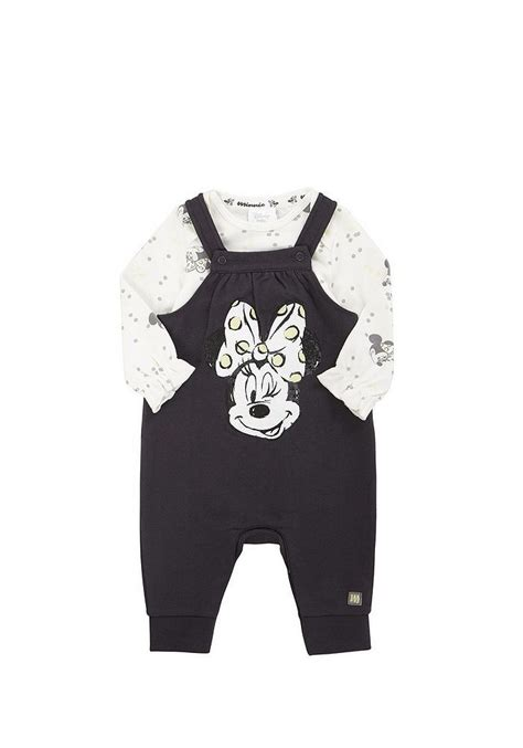 Tesco direct: Disney Minnie Mouse Bodysuit and Dungaree