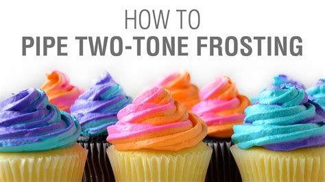 How to Pipe Two-Tone Swirled Frosting - YouTube