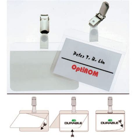 Durable Self Laminating Name Badges, 54 x 90mm (package 25