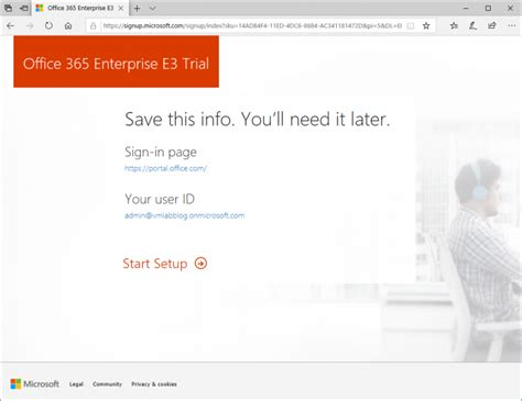How to create a Office 365 Trial subscription (without
