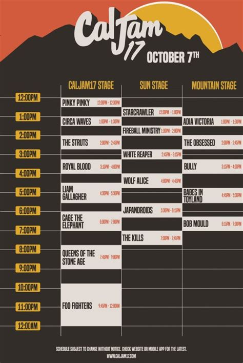 Cal Jam 17 Reveals Set Times featuring Foo Fighters and