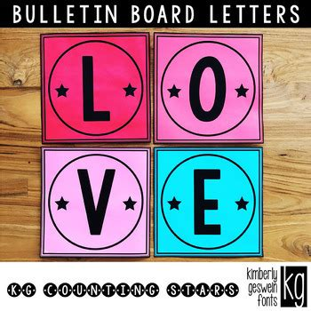 Bulletin Board Letters: KG Counting Stars ~ Easy Cut by