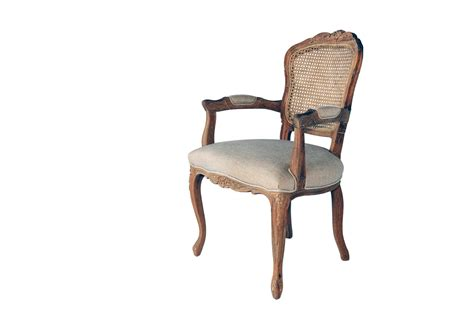 Lacey Provincial Armchair with Rattan Back - All 4