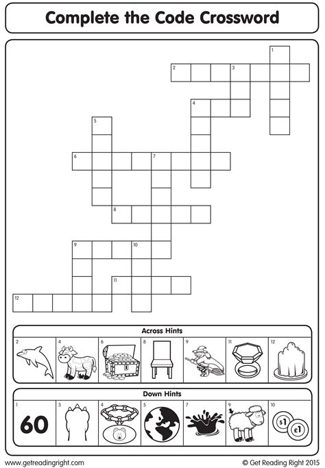 Complete the Code Crossword - Get Reading Right