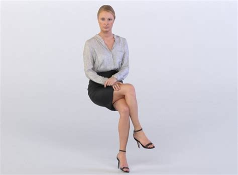 3D Maria 0255 Woman sitting, leg over knee | CGTrader
