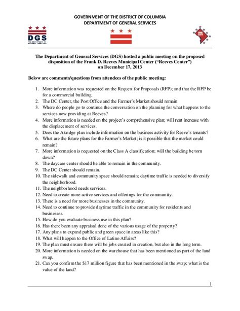 Reeves Disposition Meeting Questions (Dec