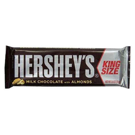 Hershey's Milk Chocolate with Almonds King Size Candy Bar