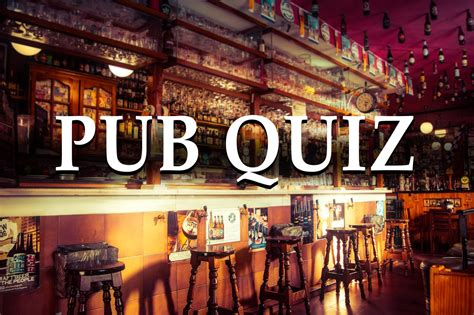 Pub quiz questions and answers to play at home - with