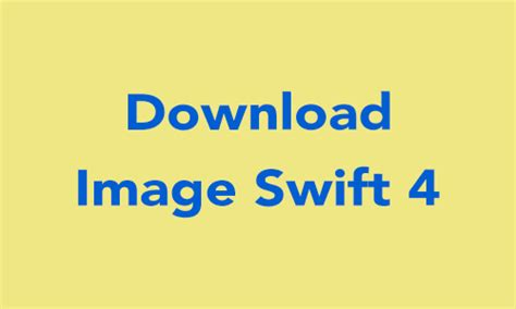 How To Downloading Image from server URL on Swift 4