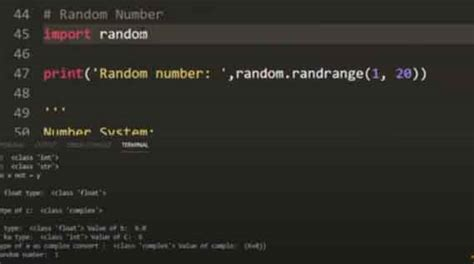 Number system, random module, math library, decimal in the