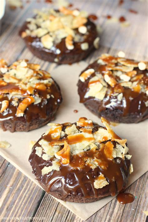 Salted Caramel Potato Chip Donuts - Young At Heart Mommy