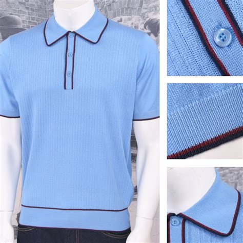 Art Gallery Retro Mod 3 Button Short Sleeve Ribbed Knit
