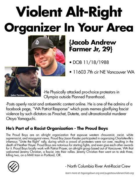 Proud Boys Greeted May Day Morning [Vancouver WA] – PUGET