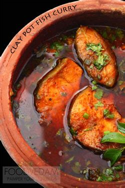 Clay pot Fish curry with coconut milk - Foodvedam