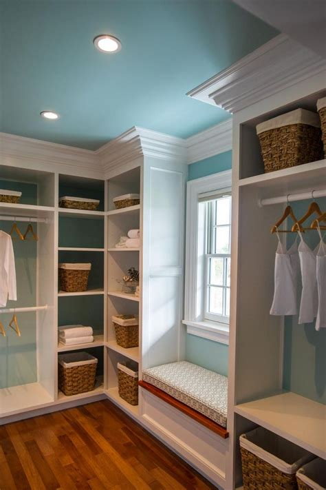 small walk in closet with window seat site:pinterest