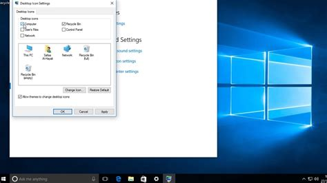 Windows 10 - How to restore missing desktop icons - YouTube