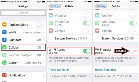 How to Turn Off iPhone use Cellular data when Wi-Fi is weak