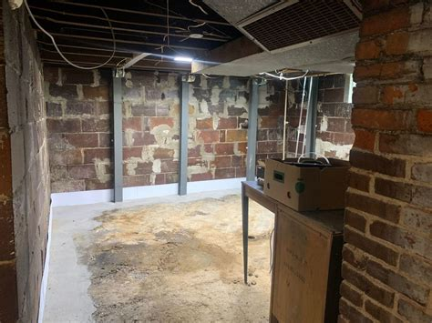 Foundation Repair - PowerBrace Wall Support System in