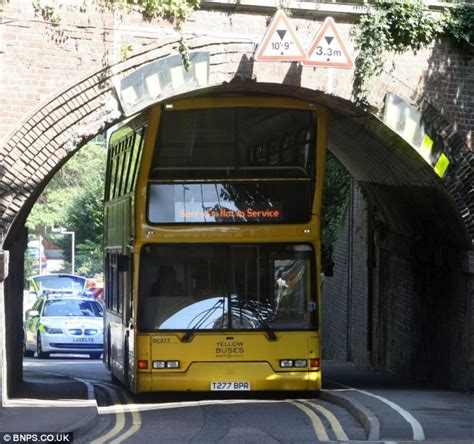 Bournemouth double decker bus loses its shape after going